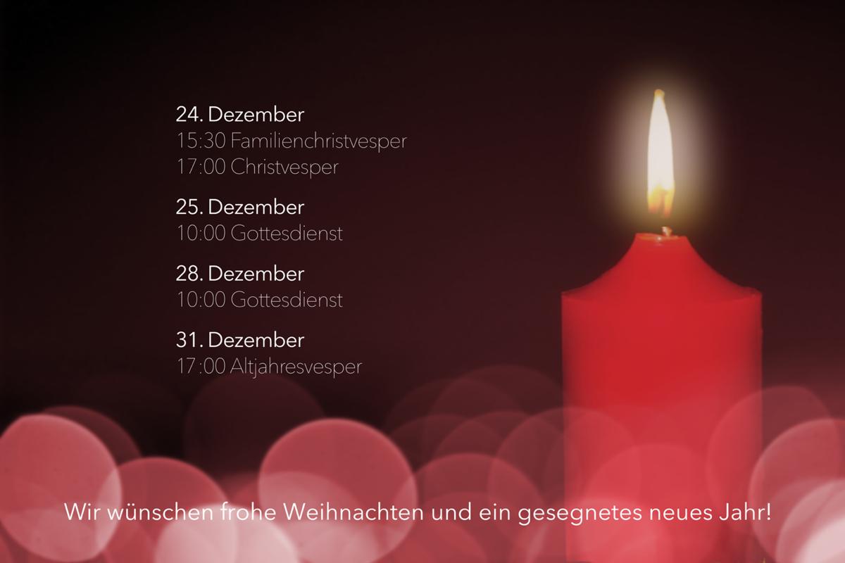 Frohe Weihnachten und ein gesegnetes neues Jahr! - Gnadenkirche ...